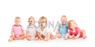 Five babies isolated