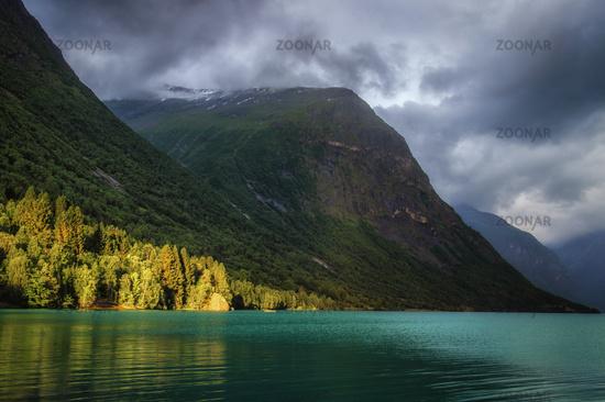 At the glacier lake in Sande