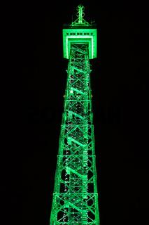 Berliner Funkturm in der Nacht