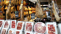 Variety of meat products in a Carrefour supermarket. Spain