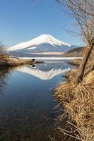 Winter Mount Fuji Yamanaka Lake