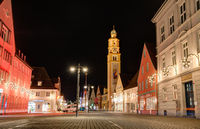 City of Schrobenhausen at night