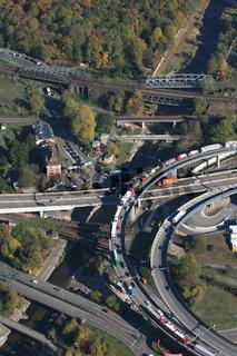 Basel, viele Brücken über den Fluss Wiese