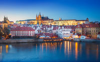 Prague Castle at night. Czech republic