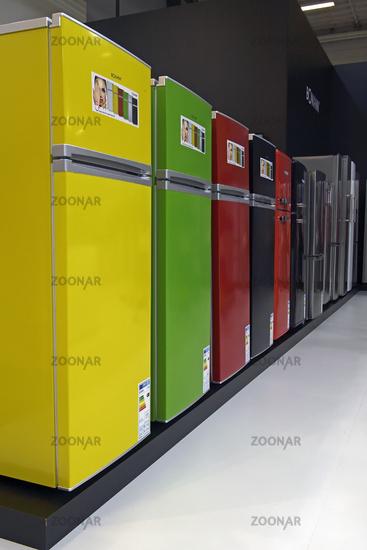 Photo bunte Kühlschränke der Firma Bomann, Internationale ...