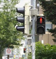 Red Traffic Ligt Sign, Germany, Europe