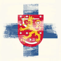 Grunge flag of Finland