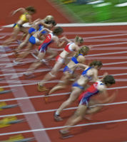 Track and Field: 100m-start women