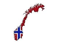 Karte und Fahne von Norwegen auf Wellblech - Map and flag of Norway on corrugated iron