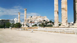 ruins of Temple of Olympian Zeus in Athens