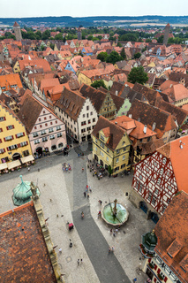 Aerial view of Rothenburg ob der Tauber