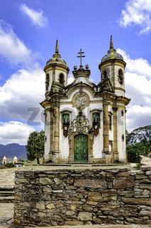 Ouro Preto historic church facade