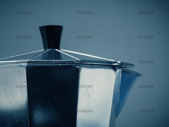 Espresso maker close up shot