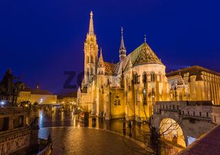 Matthias Church and Fisherman Bastion in Budapest Hungary