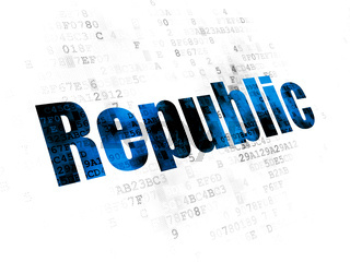 Political concept: Republic on Digital background