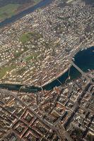 Schweiz Luzern Kapellbrücke Brücke hochkant Innenstadt Stadt Luftbild