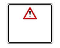 Warnschild mit Ausrufezeichen und Zusatzschild - Attention sign with exclamation mark and added sign