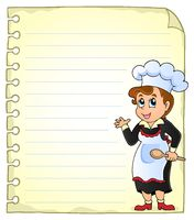 Notepad page with chef theme 3