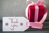 Pink Gift, Calligraphy, Thank You
