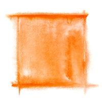 Orange watercolor frame