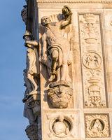 Pavia Carthusian monastery statues from the renaissance.