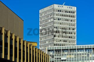 Sitz der Internationale Fernmeldeunion, International Telecommunication Union, ITU, Genf, Schweiz