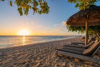 beautiful beach at sunset