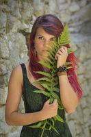 Portrait with fern