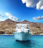 Yacht in a bay