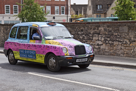 Photo uk oxford taxi displaying periodic table image 1880740 uk oxford taxi displaying periodic table urtaz