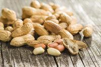 The peeled peanuts.