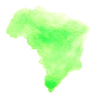 Watercolor stain - Brazil
