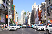Road traffic on Gran Via