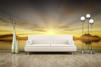 photo wall mural sunset