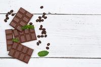 Schokolade Milchschokolade Tafel Süßigkeiten Essen Textfreiraum von oben