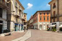 The historic centre of Allesanria, Italy.