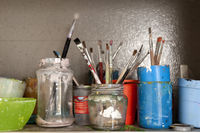 Lots of used Paintbrushes