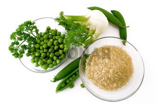 Risi Bisi - Zutaten - ingredients
