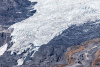 Aerial view of the Columbia Icefield in the Canadian Rocky Mount