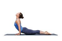Woman doing Ashtanga Vinyasa yoga Sun Salutation asana