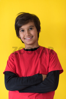 Portrait of a happy young boy