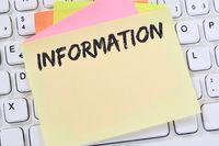 Information Info Infos Informationen News Nachrichten Business Konzept Notizzettel