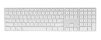 Computer keyboard on white background
