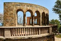 Arch in The Benedictine abbey of Santa Maria de Montserrat. Catalonia, Spain