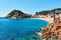 Waterside view of a Vila Vella, Tossa del Mar. Spain