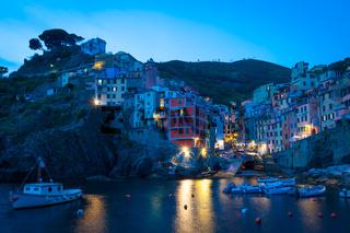 Riomaggiore in Cinque Terre, Italy - Summer 2016 - Sunset Hour