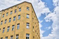 simple house and cloudscape, Berlin Kreuzberg