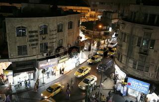 An der al Malek Faisal Strasse Stadtzentrum der Jordanieschen Hauptstadt Amman