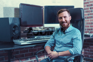 Smiling professional