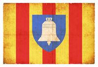 Grunge flag of Ariege (France)